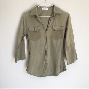 💥5/$25 Love Tree Girl's Olive Button Blouse